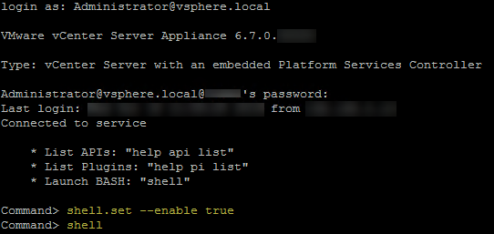 vmware vsphere vcenter server appliance vcsa with embedded platform services controller psc sso appliacneSH api pi shell.set --enable true command shell.png