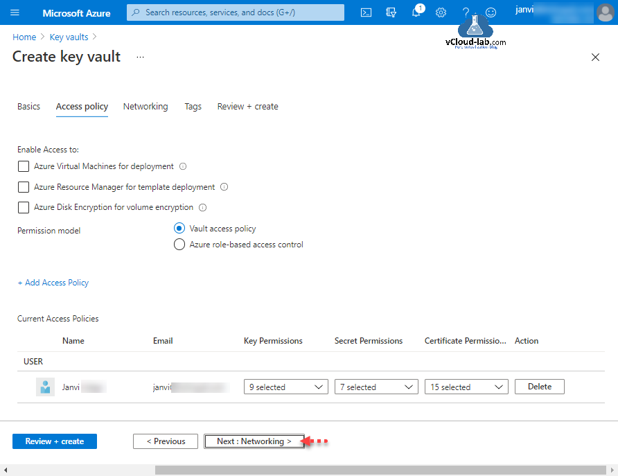 Microsoft Azure Create key vault access policy azure virtual machines deployment arm azure resource manager for template azure disk encryption volume encryption.png