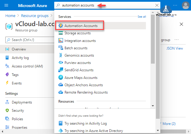 Create an Azure Automation account on using Portal PowerShell and AzureCLI